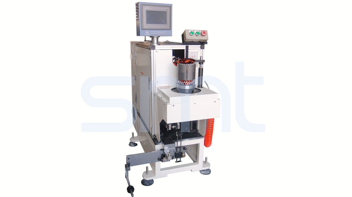 Single Side High Efficiency Coil Lacing Machine , Automatic Stator Winding Machine